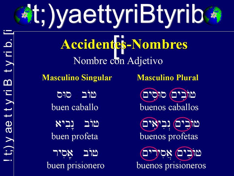 !t;)yaettyriBtyrib. [i Nombre con Adjetivo