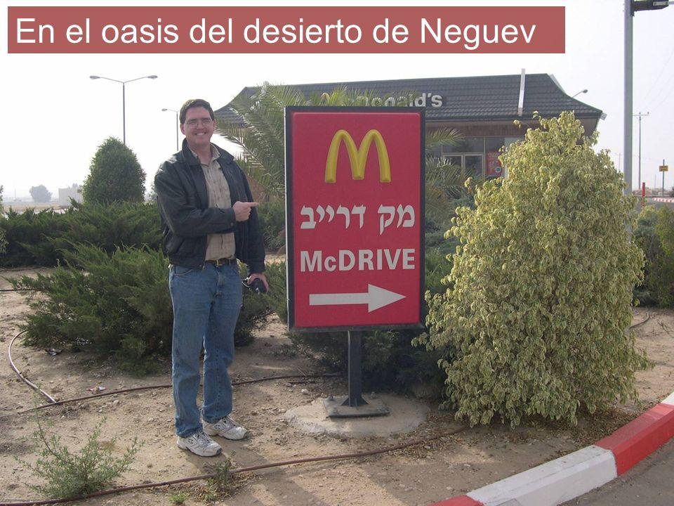 En el oasis del desierto de Neguev