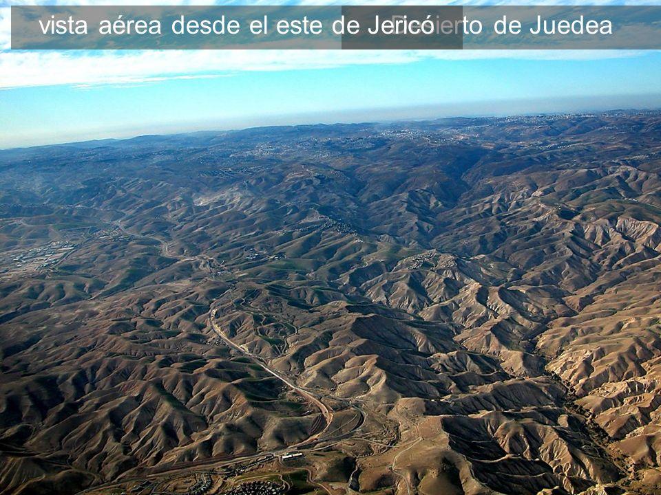 Desierto de Juedeavista aérea desde el este de Jericó