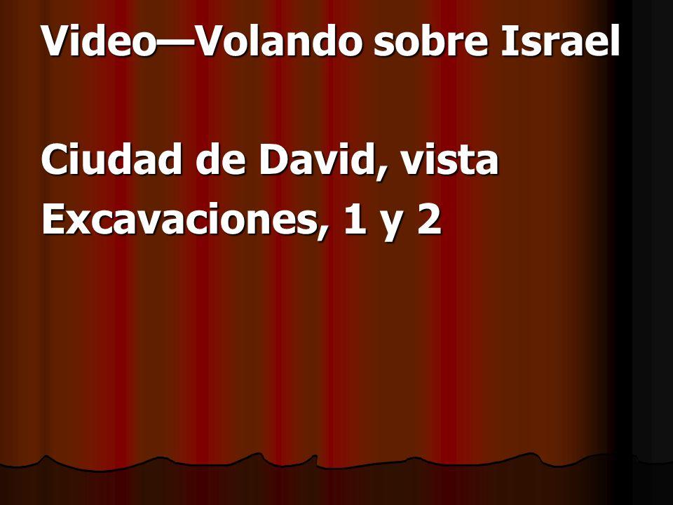 VideoVolando sobre Israel Ciudad de David, vista Excavaciones, 1 y 2
