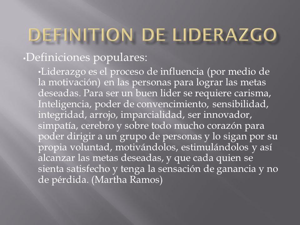 Definiciones populares: Es aquella persona capaz de inspirar y guíar a individuos o grupos.