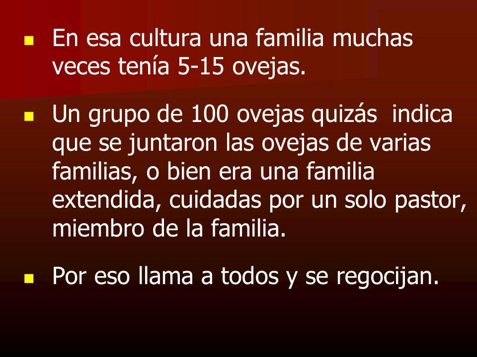 En esa cultura una familia muchas veces tenía 5-15 ovejas. Un grupo de 100 ovejas quizás indica que se juntaron las ovejas de varias familias, o bien