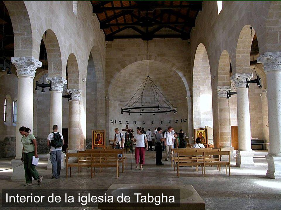 Interior de la iglesia de Tabgha