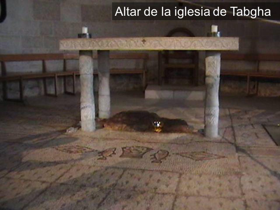 Altar de la iglesia de Tabgha
