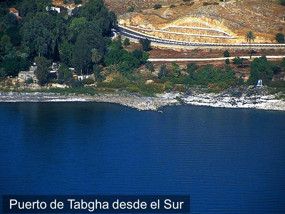 Vista aérea del Puerto de Tabgha desde el Sur