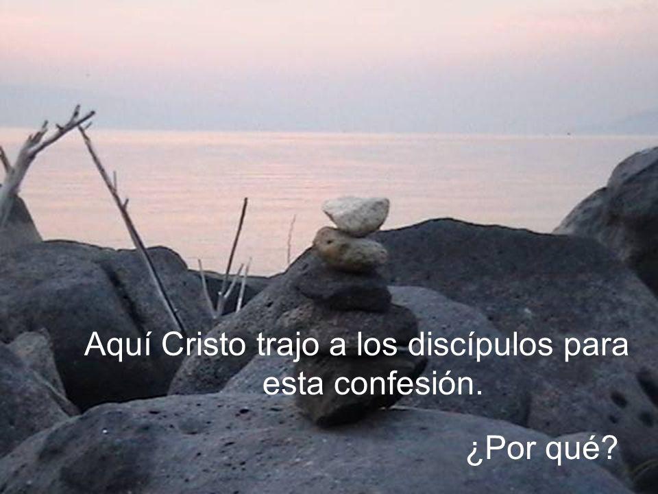 ¿Por qué? Aquí Cristo trajo a los discípulos para esta confesión.