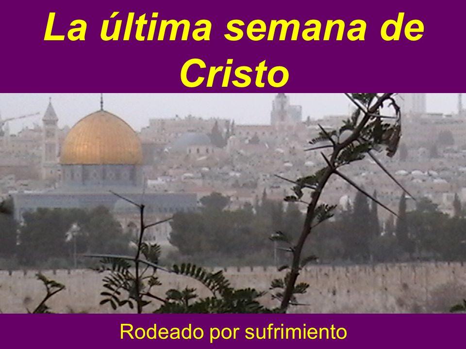 Rodeado por sufrimiento La última semana de Cristo