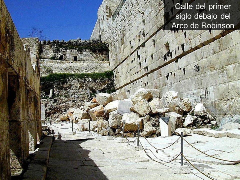 Calle del primer siglo debajo del Arco de Robinson