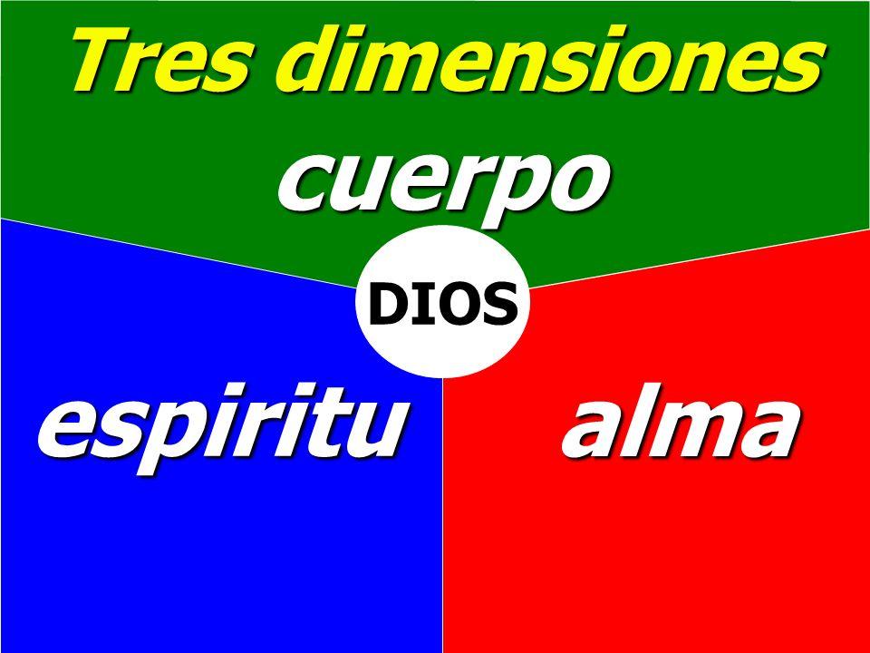 cuerpo espiritu alma Tres dimensiones