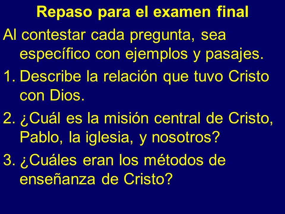4.Describe algunas cosas que sufrieron Cristo y Pablo.