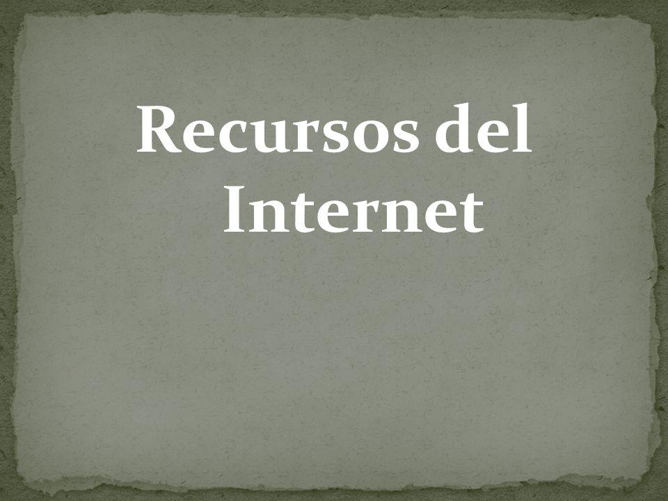 Recursos del Internet