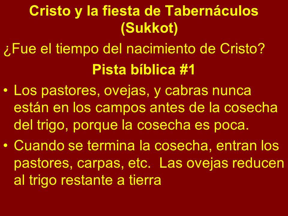 Cristo y la fiesta de Tabernáculos (Sukkot) ¿Fue el tiempo del nacimiento de Cristo.