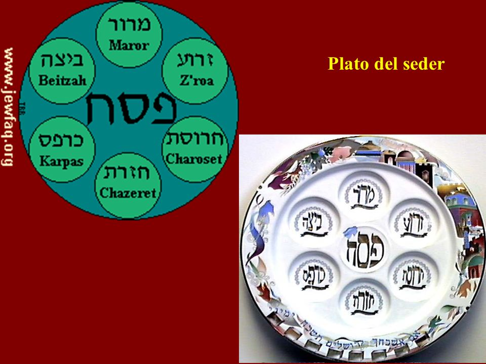 Plato del seder Passover seder plate