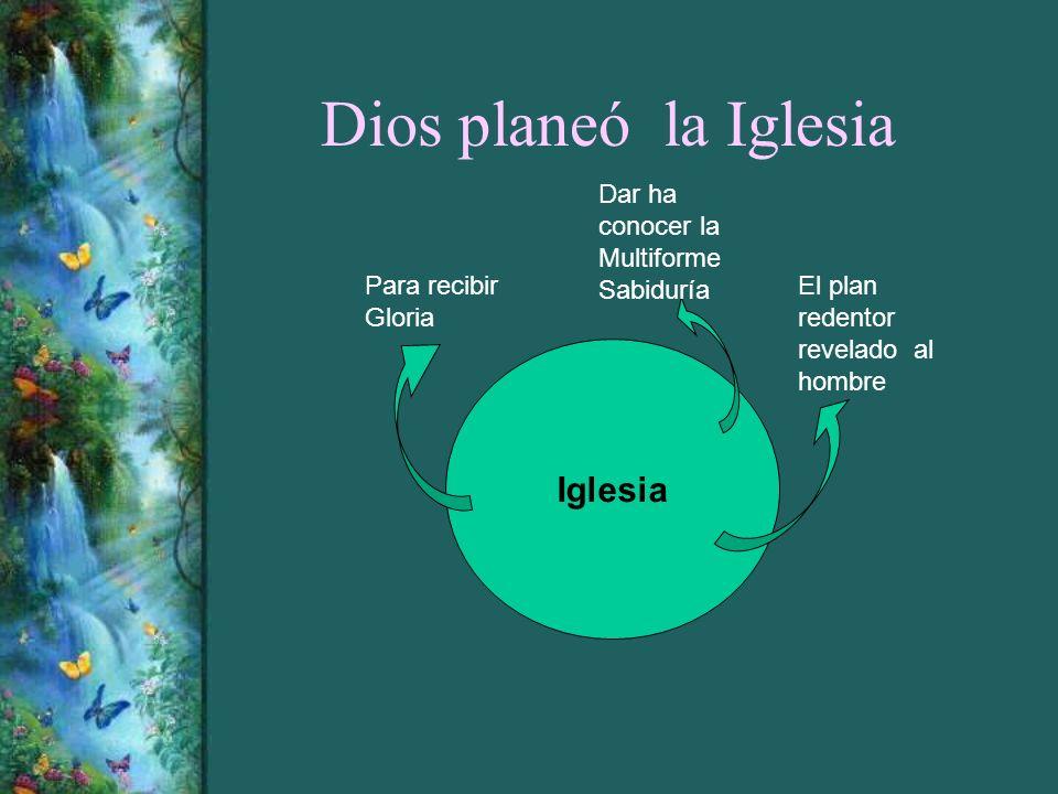 Dios planeó la Iglesia Iglesia Para recibir Gloria Dar ha conocer la Multiforme Sabiduría El plan redentor revelado al hombre