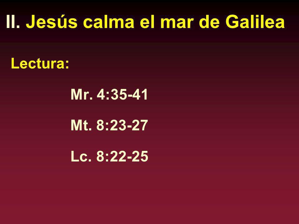 Observen los paralelos que hay en esta tormenta y el exorcismo en Capernaum.