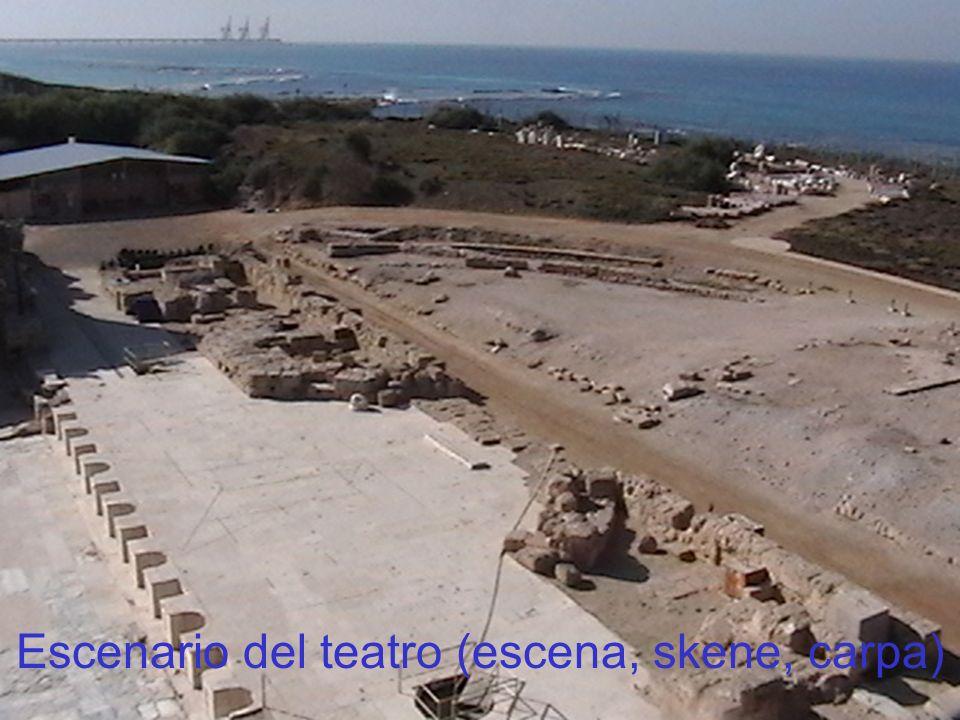 Teatro de Cesarea Escenario del teatro (escena, skene, carpa)