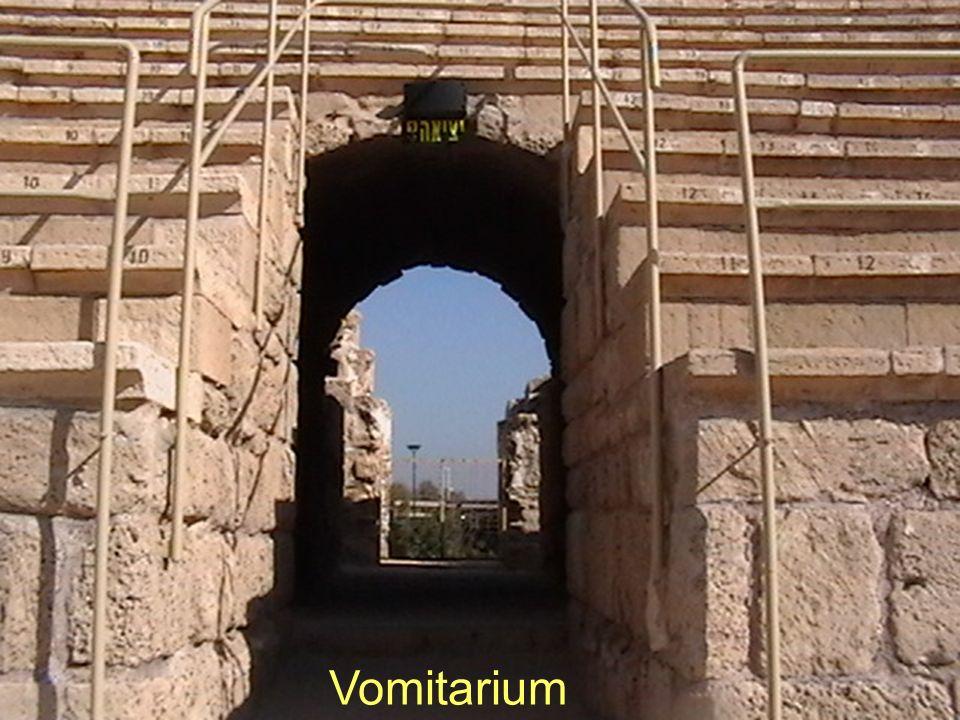 Acueducto de Herodes cerca del comienzo, yendo a Cesarea