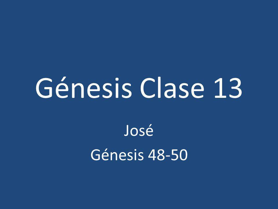 Bosquejo de la Sección VI.Dios y José (37:1-50:26) A.José esclavizado (37:1-36) B.Judá y Tamar (38:1-30) C.José y Potifar (39:1-23) D.José en la cárcel (40:1-23) E.José y Faraón (41:1-57) F.José y sus hermanos (42:1-47:31) G.La bendición de los hijos de Jacob (48:1- 49:27) H.La vida posterior de José (49:28-50:26)