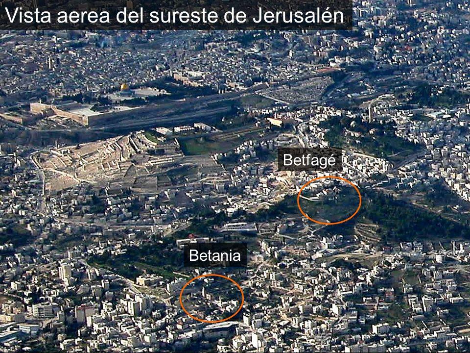 Vista aerea del sureste de Jerusalén Betania Betfagé
