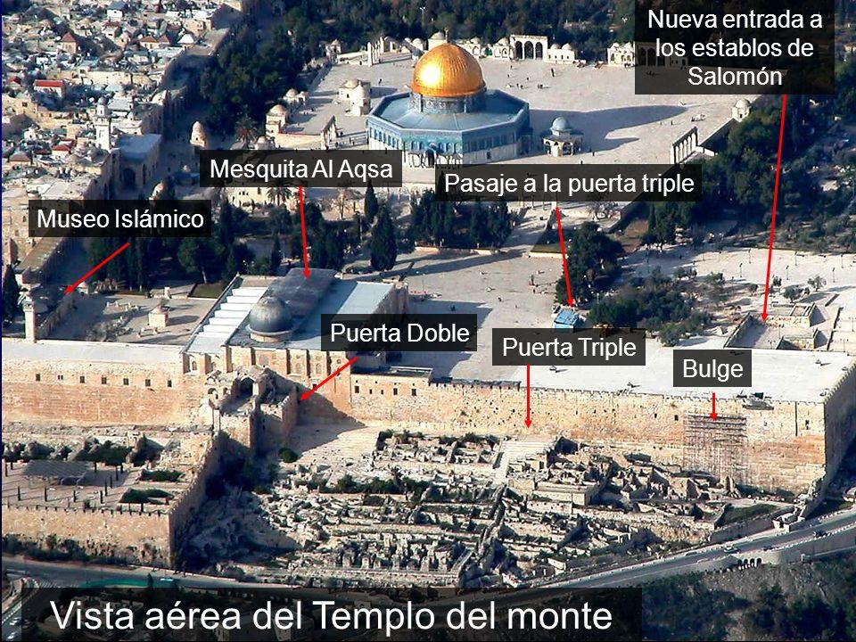 Vista aérea del Templo del monte Nueva entrada a los establos de Salomón Pasaje a la puerta triple Mesquita Al Aqsa Puerta Doble Puerta Triple Bulge M