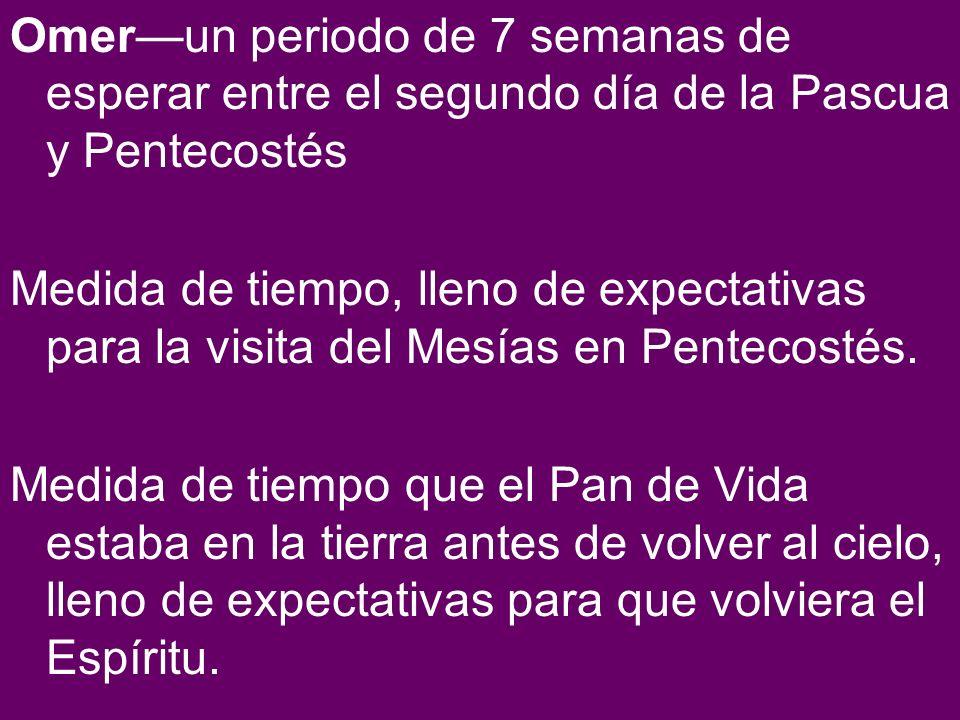 Omerun periodo de 7 semanas de esperar entre el segundo día de la Pascua y Pentecostés Medida de tiempo, lleno de expectativas para la visita del Mesí