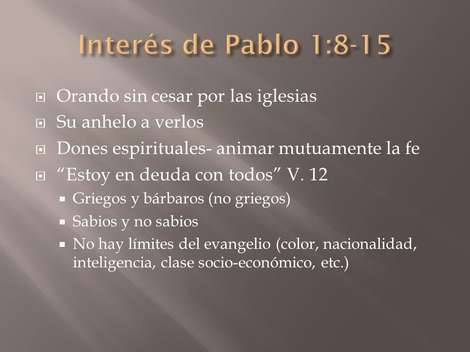 El evangelio – Poder de Dios (cp.Col.