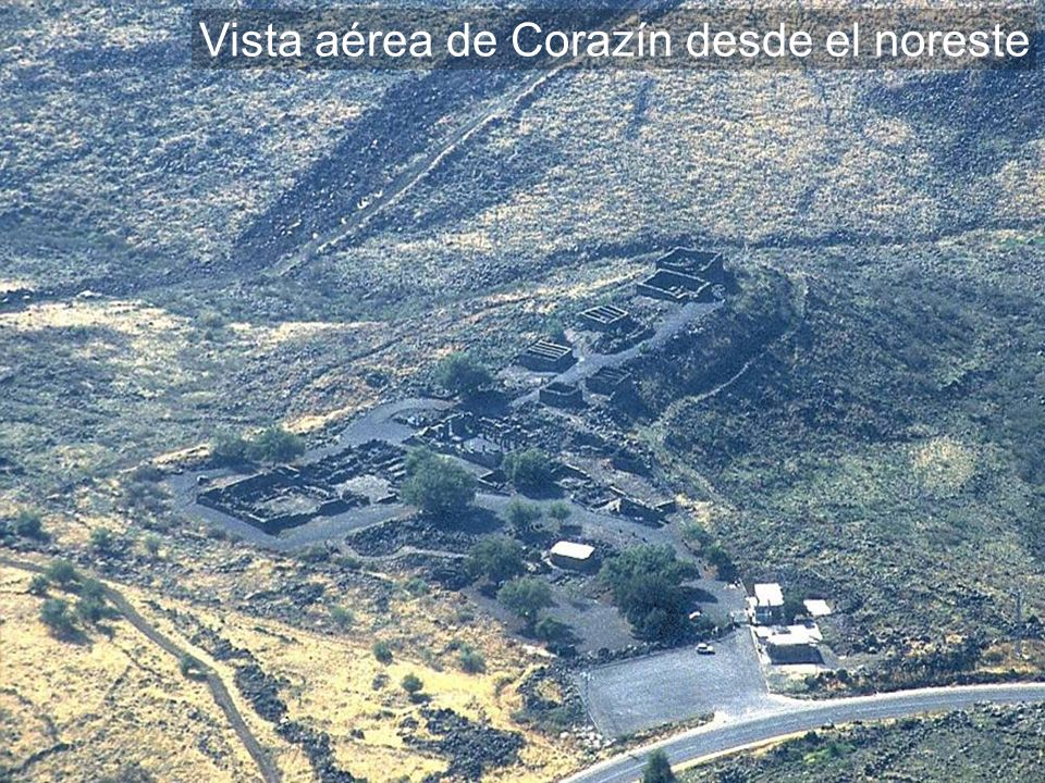Vista aérea de Corazín desde el noreste