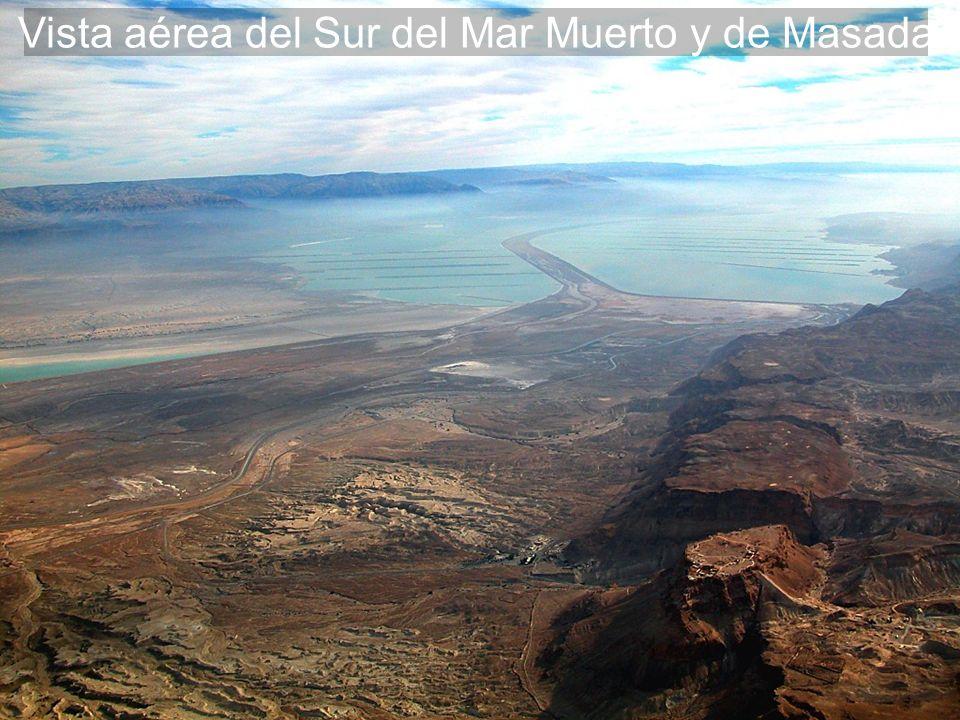 Vista aérea del Sur del Mar Muerto y de Masada