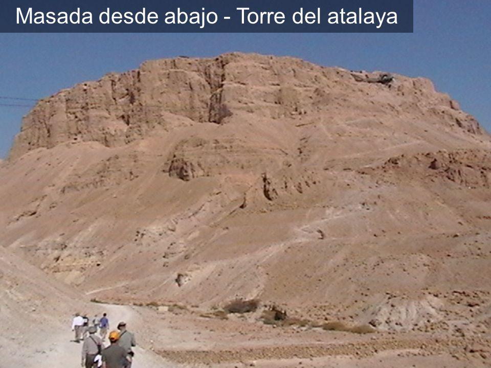 Masada desde abajo - Torre del atalaya