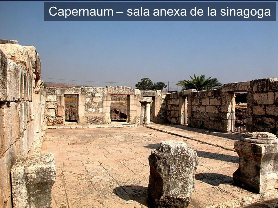 Capernaum – sala anexa de la sinagoga