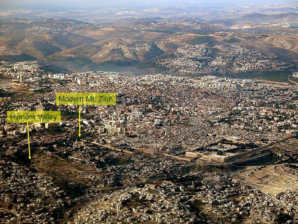 Hinnom Valley Modern Mt. Zion