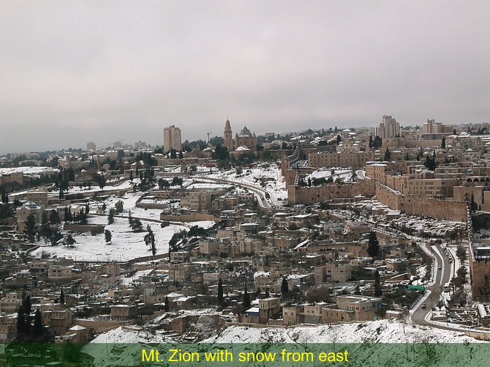 Mt. Zion with snow from east