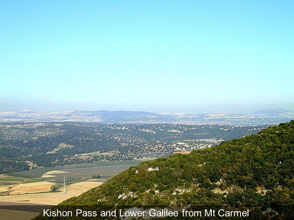 Kishon Pass and Lower Galilee from Mt Carmel
