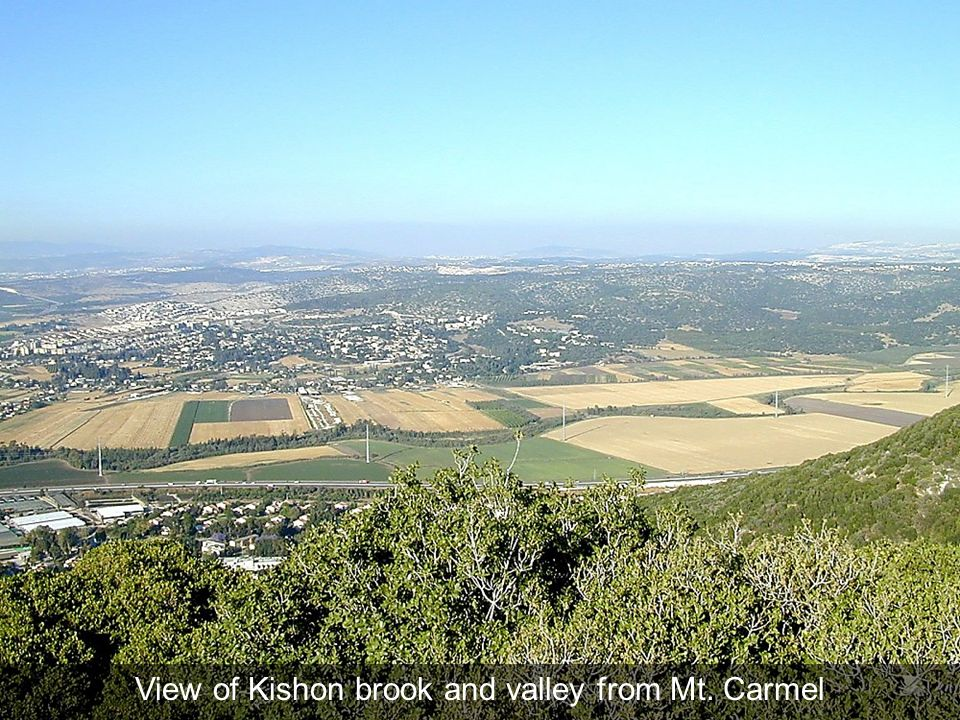 View of Kishon brook and valley from Mt. Carmel