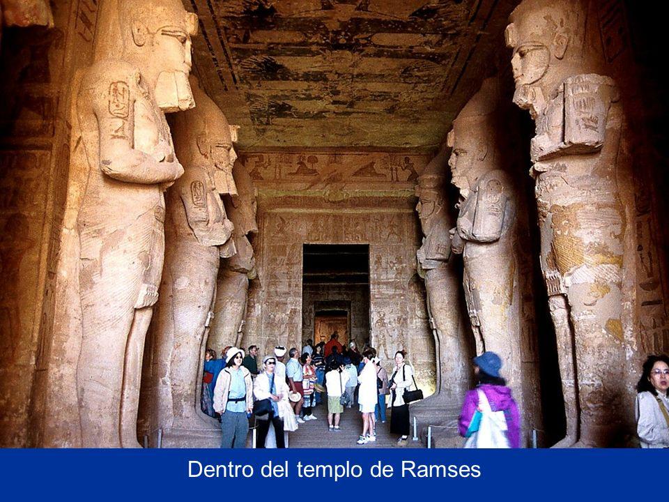 Dentro del templo de Ramses
