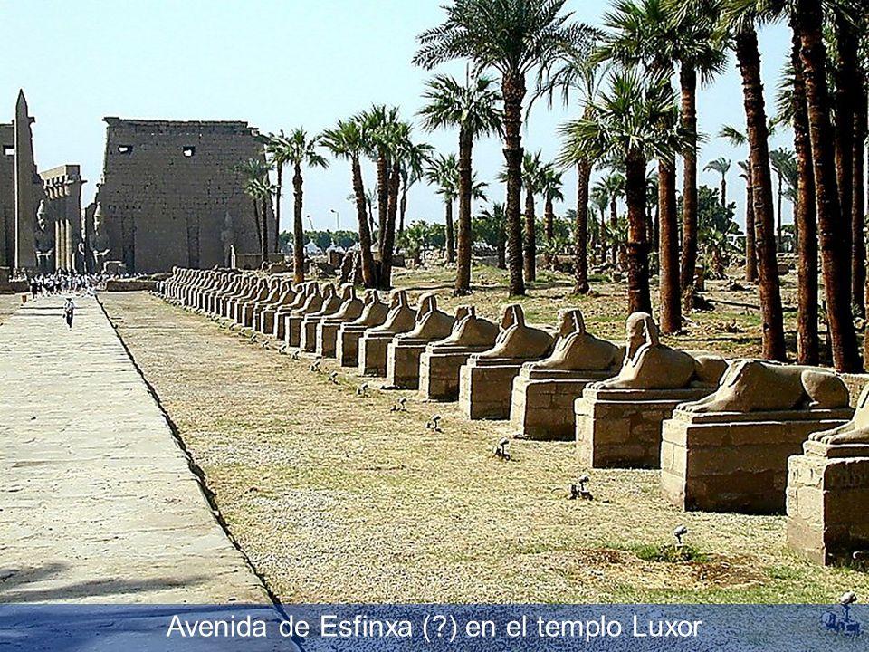 Avenida de Esfinxa (?) en el templo Luxor