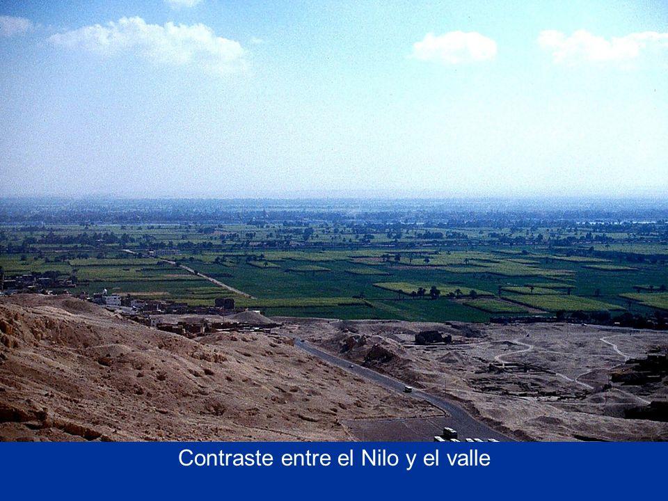 Contraste entre el Nilo y el valle