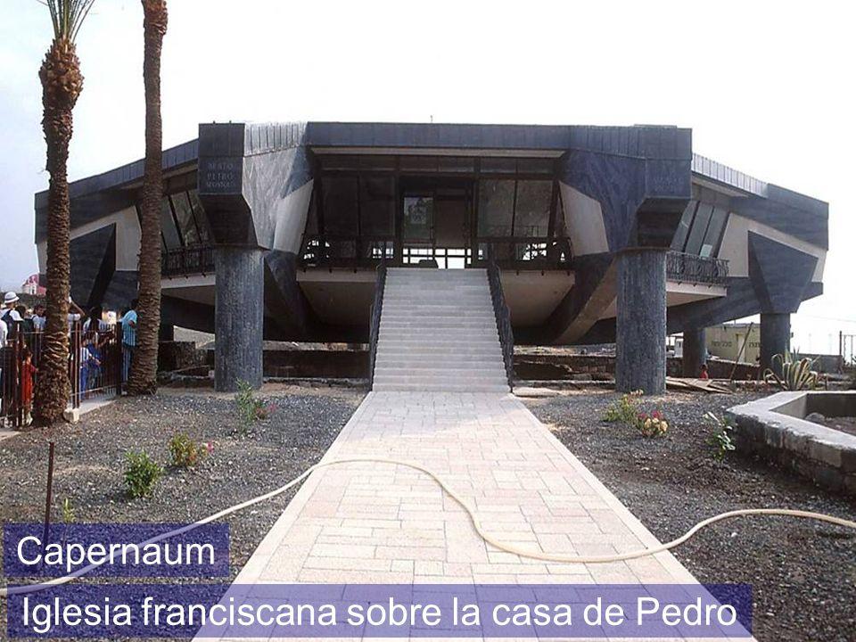 Capernaum Iglesia franciscana sobre la casa de Pedro