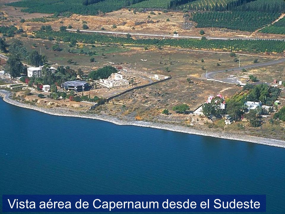 Vista aérea de Capernaum desde el Sudeste