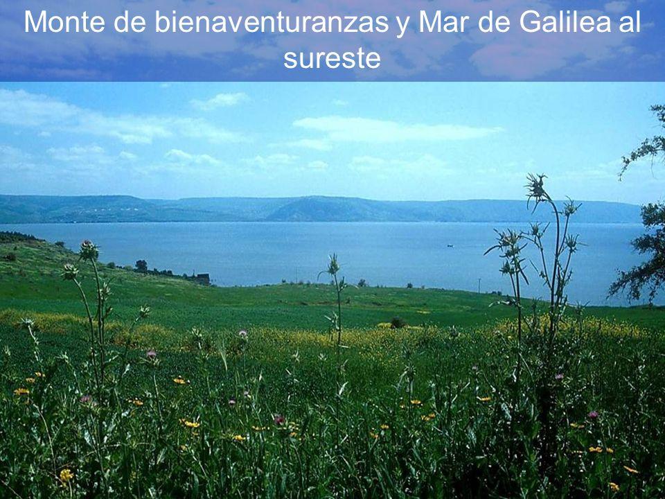 Monte de bienaventuranzas y Mar de Galilea al sureste