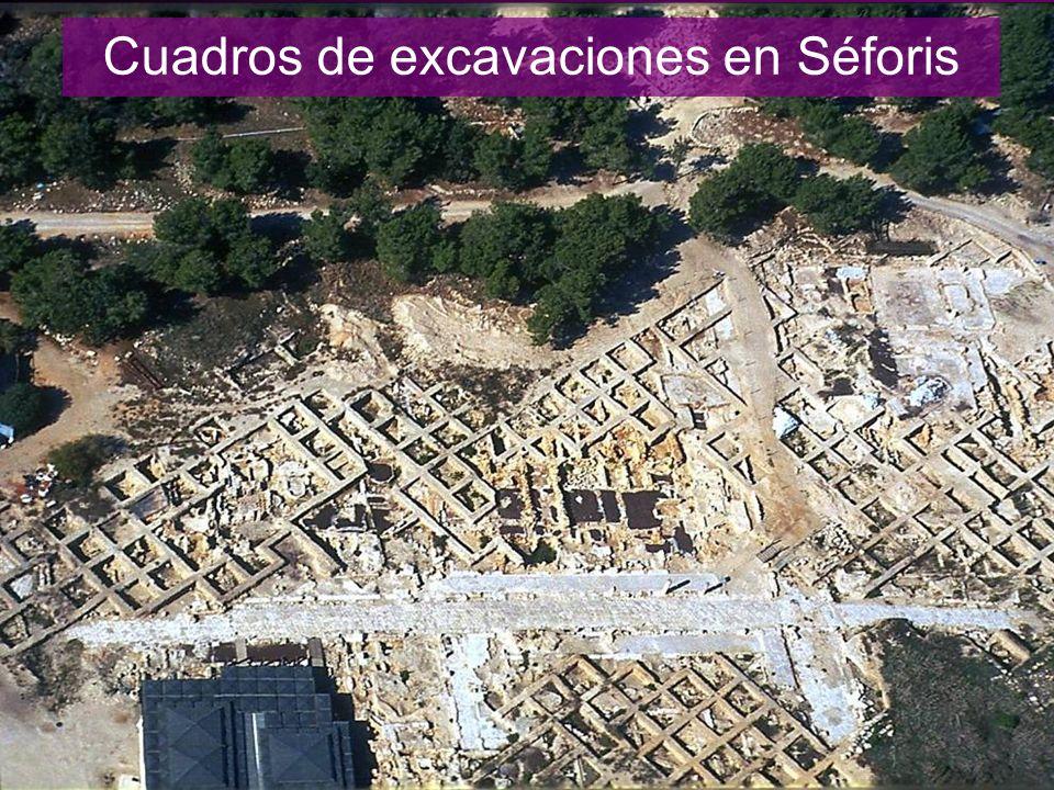 Cuadros de excavaciones en Séforis