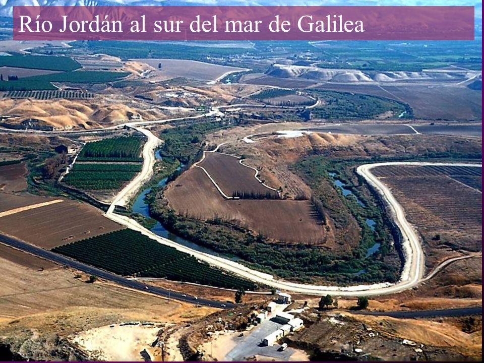 Río Jordán al sur del mar de Galilea