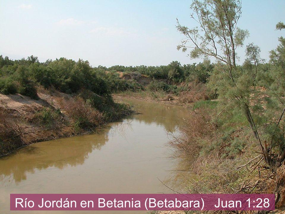 Río Jordán en Betania (Betabara) Juan 1:28