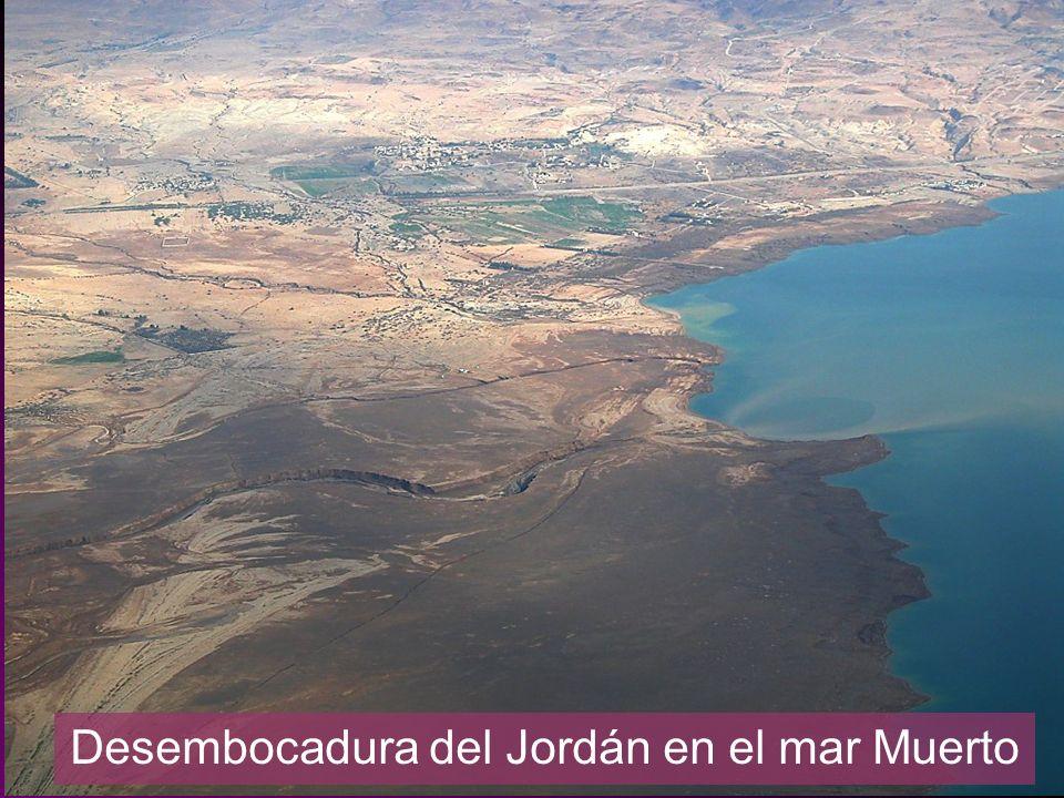 Desembocadura del Jordán en el mar Muerto