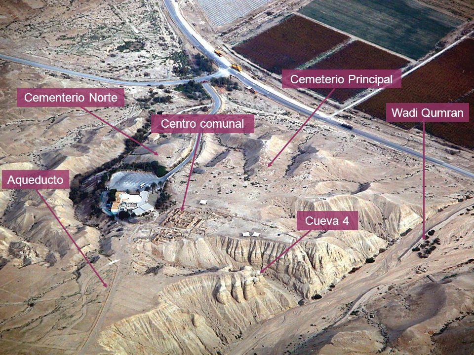 Cementerio Norte Cemeterio Principal Aqueducto Cueva 4 Wadi Qumran Centro comunal