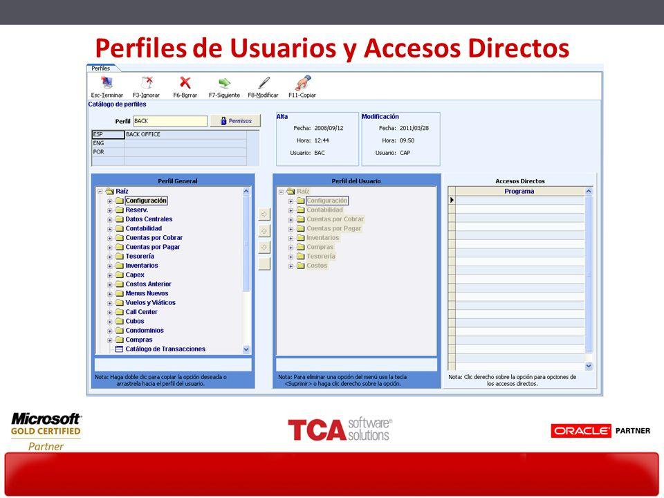 Perfiles de Usuarios y Accesos Directos