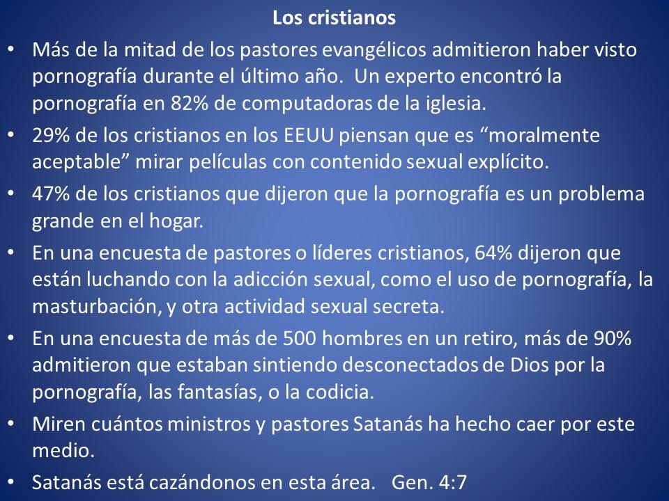 Los cristianos Más de la mitad de los pastores evangélicos admitieron haber visto pornografía durante el último año. Un experto encontró la pornografí