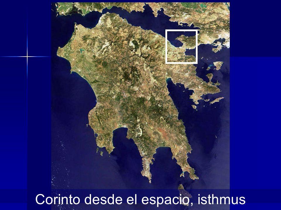 Corinto desde el espacio, isthmus