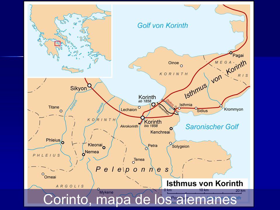 Corinto, mapa de los alemanes
