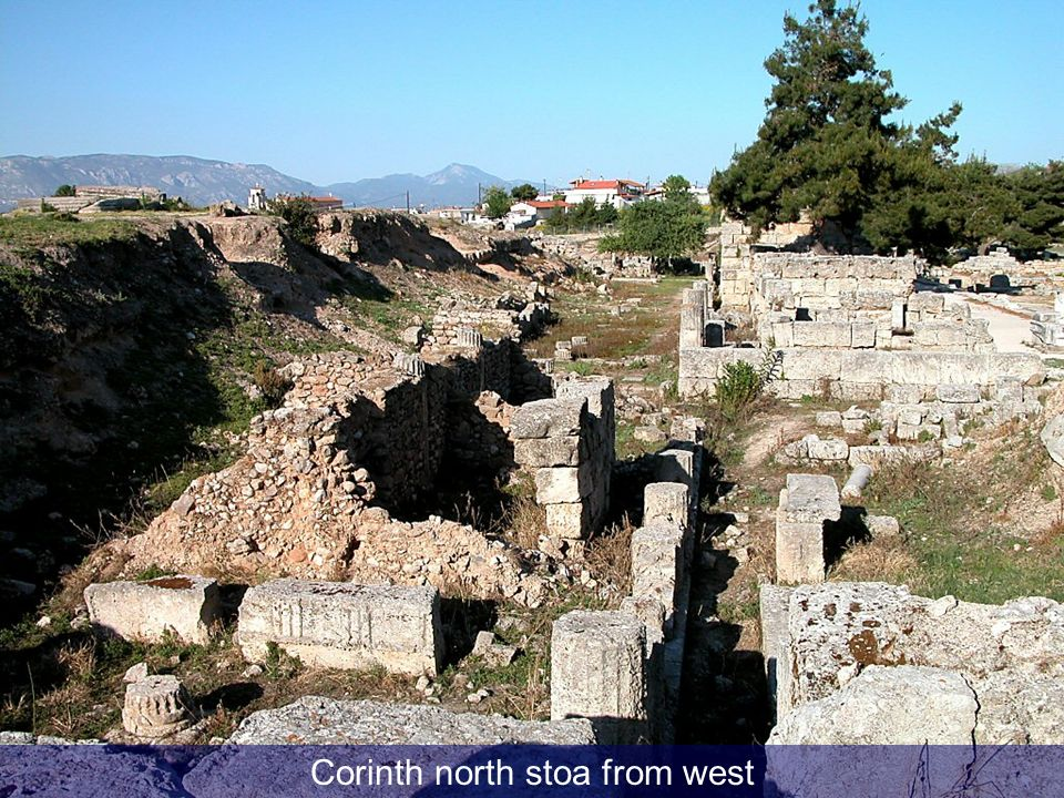 Corinth north stoa from west